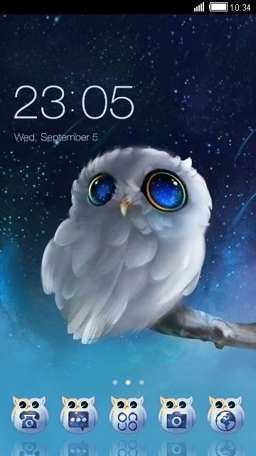 Cute Owl CLauncher Android Theme Image 1