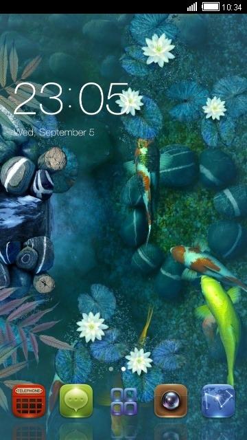 Koi Pound CLauncher Android Theme Image 1