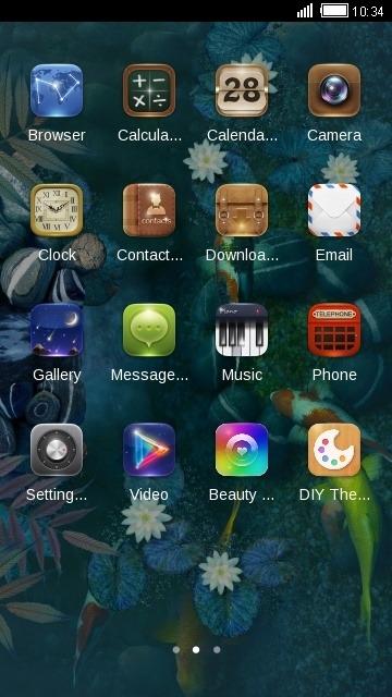 Koi Pound CLauncher Android Theme Image 2