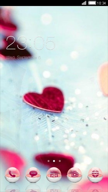 Download Free Android Theme Love Hearts CLauncher - 4454