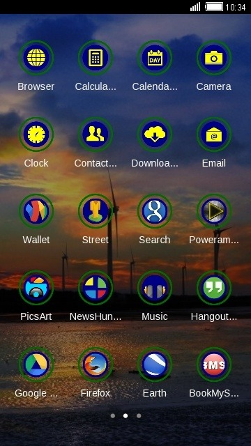 Evening CLauncher Android Theme Image 2