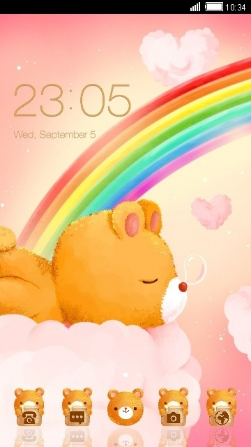 Sleepy Bear CLauncher Android Theme Image 1