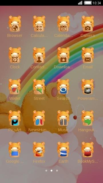 Sleepy Bear CLauncher Android Theme Image 2