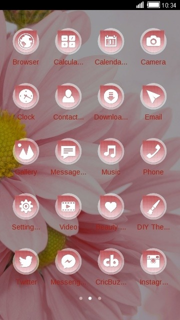 Pink Flower CLauncher Android Theme Image 2