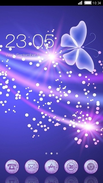 Purple Butterfly CLauncher Android Theme Image 1