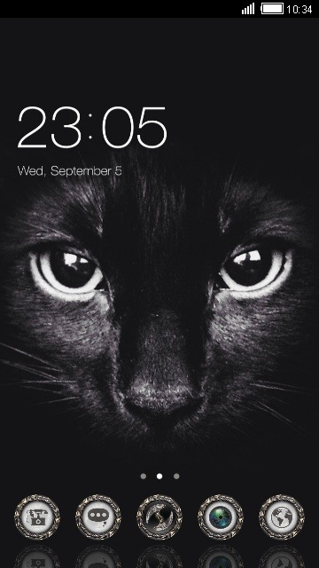 Black Cat CLauncher Android Theme Image 1