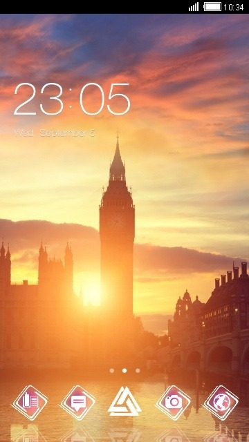 London Big Ben CLauncher Android Theme Image 1