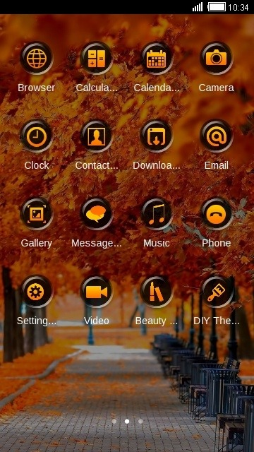 Autumn CLauncher Android Theme Image 2