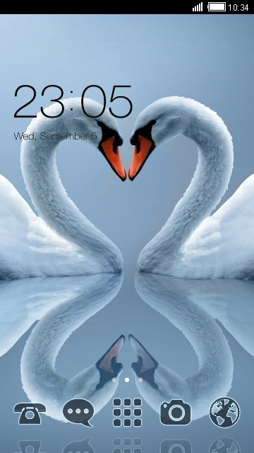 Swan Love CLauncher Android Theme Image 1
