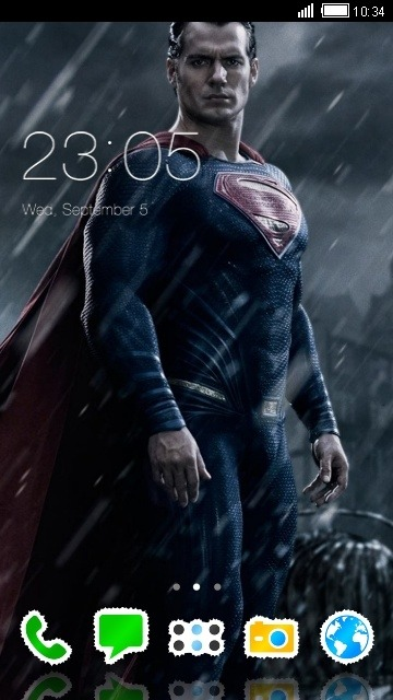 Superman CLauncher Android Theme Image 1