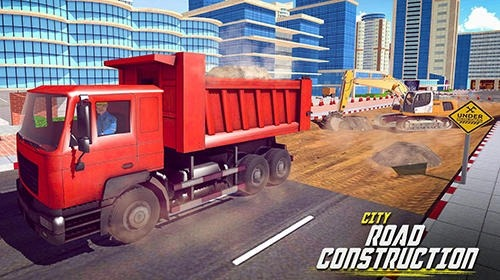 Excavator Digging: Road Construction Simulator 3D Android Game Image 1
