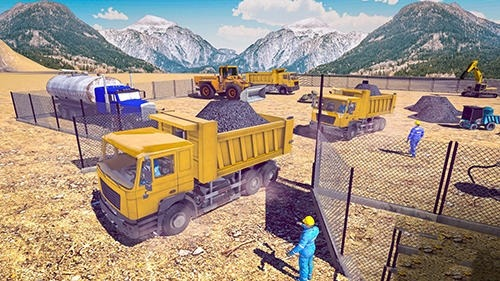 Excavator Digging: Road Construction Simulator 3D Android Game Image 2