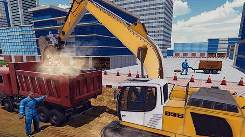 Excavator Digging: Road Construction Simulator 3D Android Game Image 3