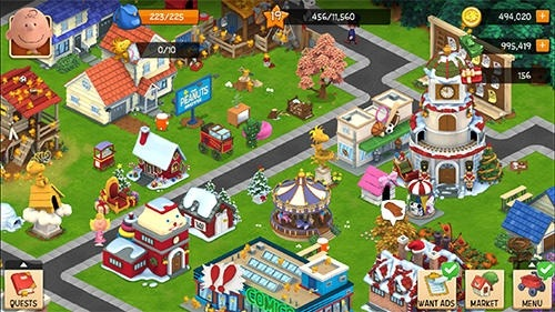 Peanuts. Snoopy's Town Tale: City Building Simulator Android Game Image 2