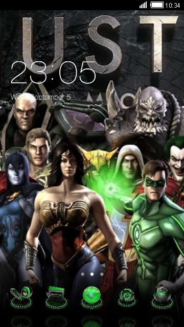 Justice League CLauncher Android Theme Image 1