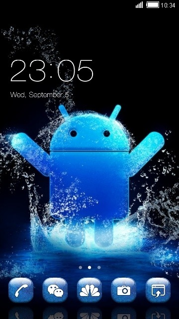 Android Blue CLauncher Android Theme Image 1