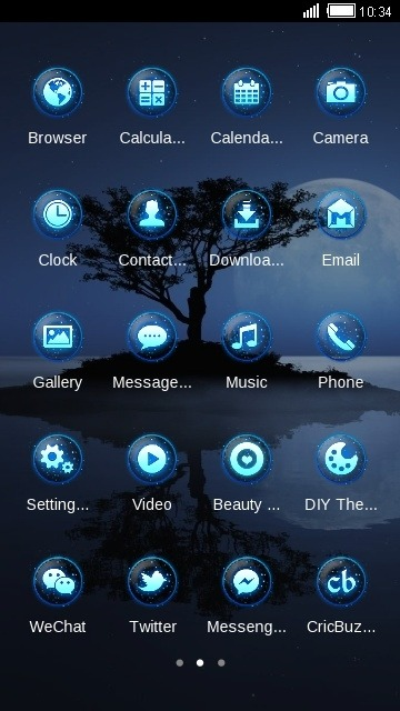 Night CLauncher Android Theme Image 2