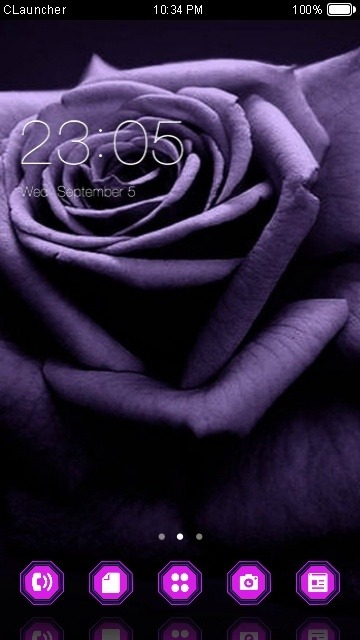 Purple Rose CLauncher Android Theme Image 1