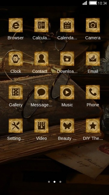 Antique CLauncher Android Theme Image 2