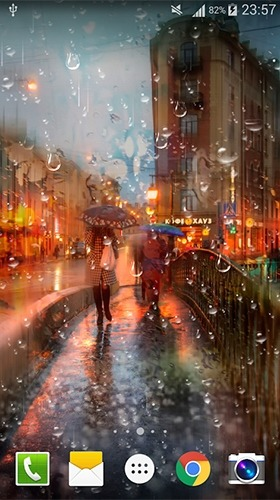 City Rain Android Wallpaper Image 4