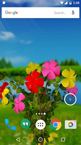Hibiscus 3D Android Wallpaper Image 1