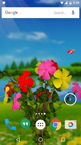 Hibiscus 3D Android Wallpaper Image 3