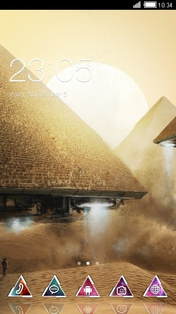 Pyramids CLauncher Android Theme Image 1