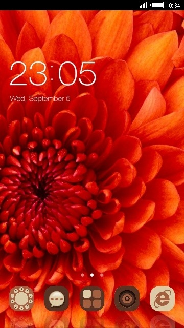 Red Flower CLauncher Android Theme Image 1