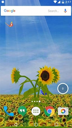 Sunflower 3D Android Wallpaper Image 3
