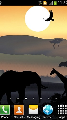African Sunset Android Wallpaper Image 1