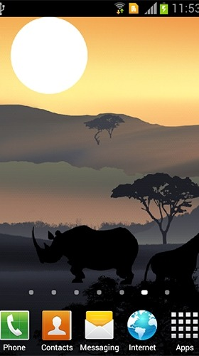 African Sunset Android Wallpaper Image 2
