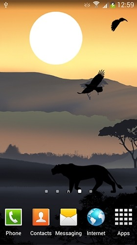 African Sunset Android Wallpaper Image 3