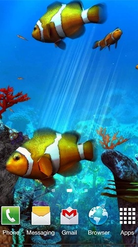 Clownfish Aquarium 3D Android Wallpaper Image 1