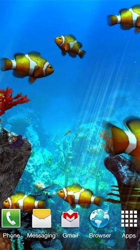 Clownfish Aquarium 3D Android Wallpaper Image 2