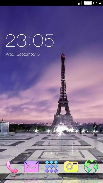 Eiffel Tower CLauncher Android Theme Image 1