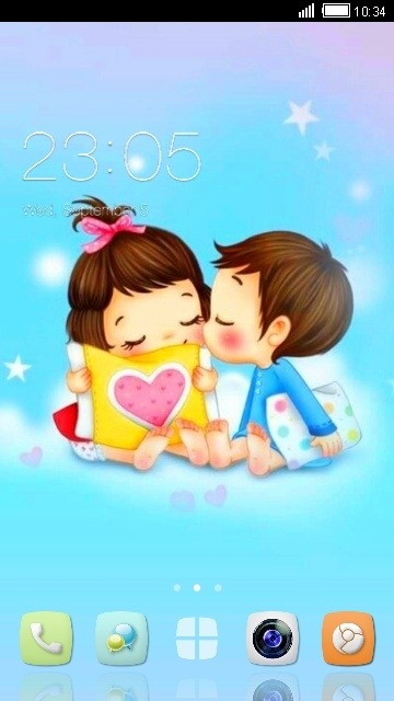 Boy & Girl CLauncher Android Theme Image 1
