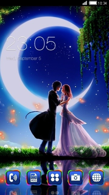 Lovers CLauncher Android Theme Image 1
