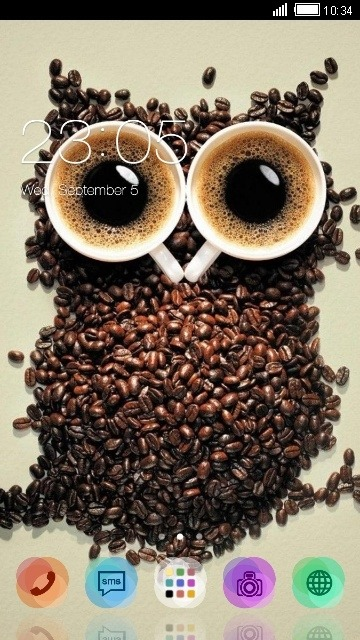 Coffee Beans Owl CLauncher Android Theme Image 1