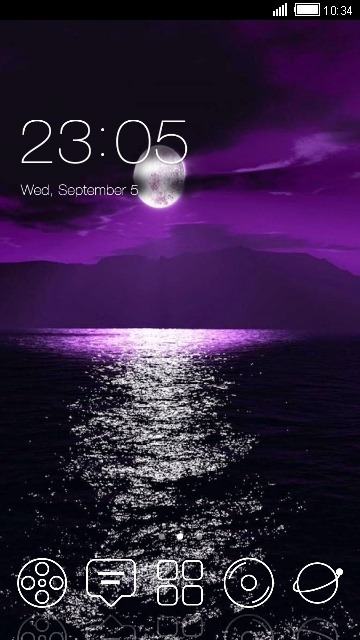 Moonlight CLauncher Android Theme Image 1