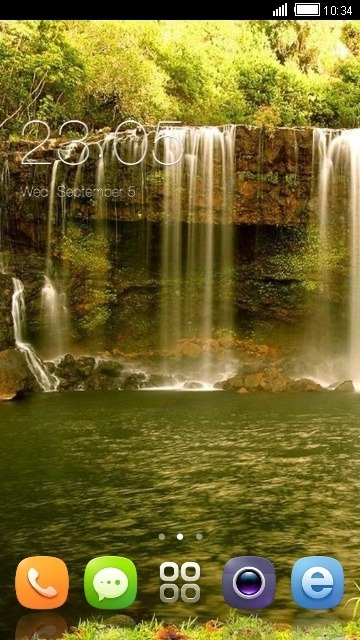 Waterfall CLauncher Android Theme Image 1