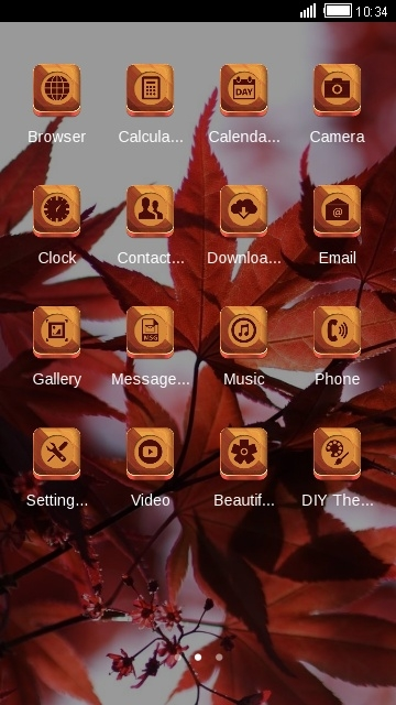 Red Leaves CLauncher Android Theme Image 2