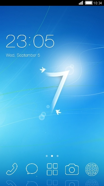 Windows 7 CLauncher Android Theme Image 1