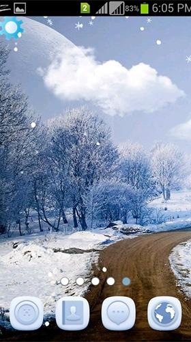 Winter Snowfall Android Wallpaper Image 1