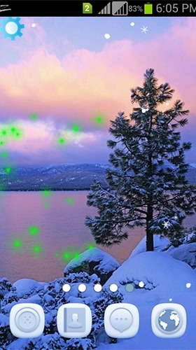 Winter Snowfall Android Wallpaper Image 3