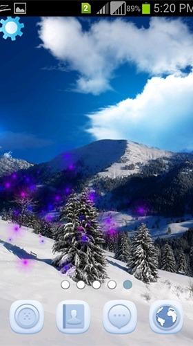 Winter Snowfall Android Wallpaper Image 4