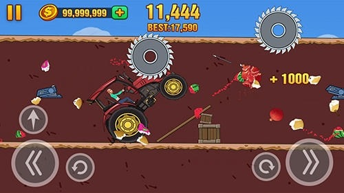 Hill Dismount: Smash The Fruits Android Game Image 2