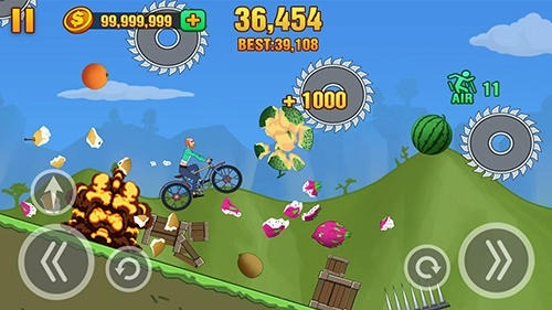 Hill Dismount: Smash The Fruits Android Game Image 3