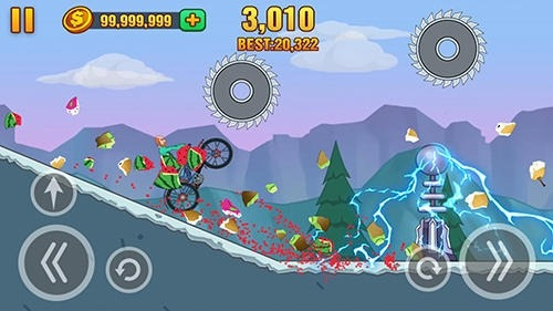 Hill Dismount: Smash The Fruits Android Game Image 4