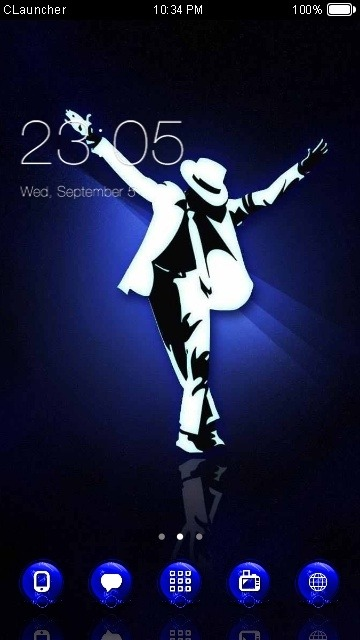 MJ CLauncher Android Theme Image 1