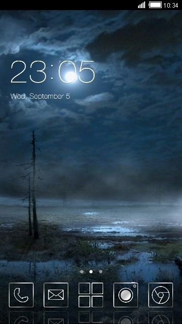 Night CLauncher Android Theme Image 1